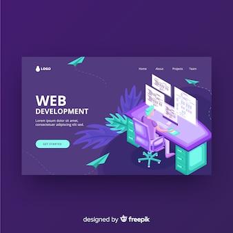 Page de destination du développement web