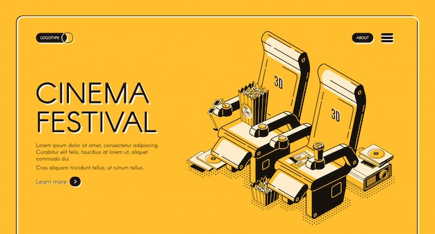 Page de destination du festival de cinéma