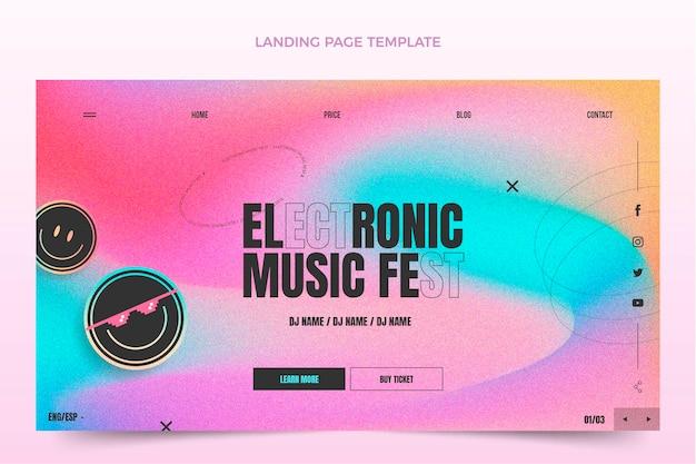 Page de destination du festival de musique à texture dégradée