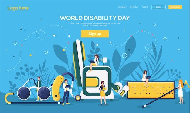 Page de destination du jour de l'invalidité