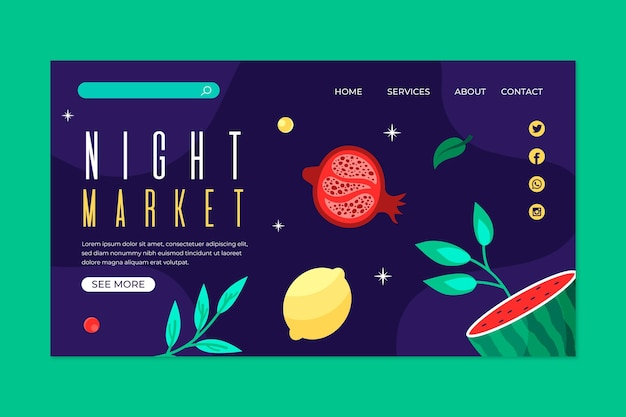 Page de destination du marché nocturne