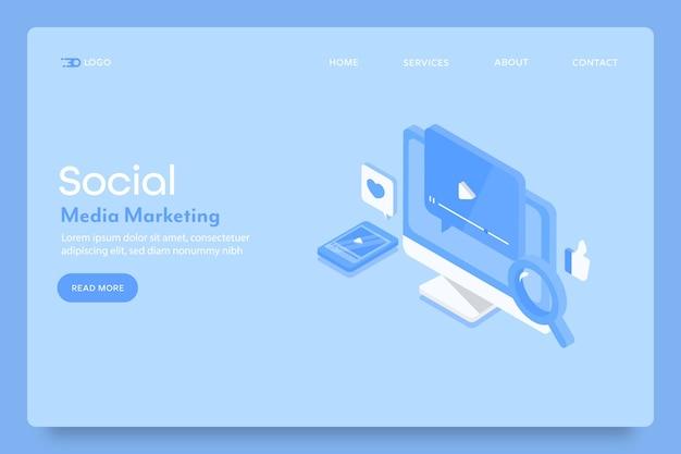 Page de destination du marketing de contenu sur les réseaux sociaux