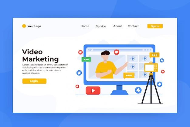 Page de destination du marketing internet