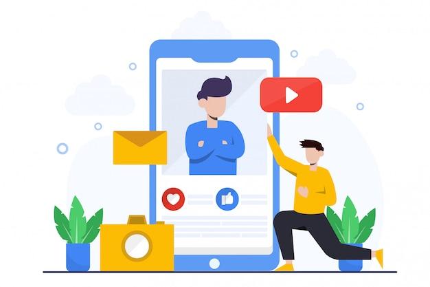 Page de destination du marketing mobile