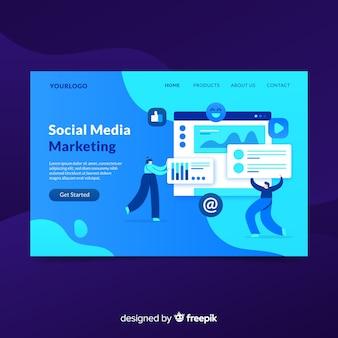 Page de destination du marketing par les médias sociaux