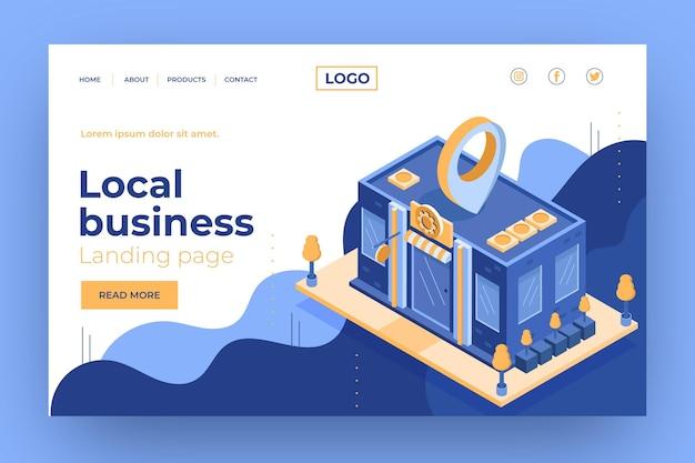 Page de destination du modèle d'entreprise locale