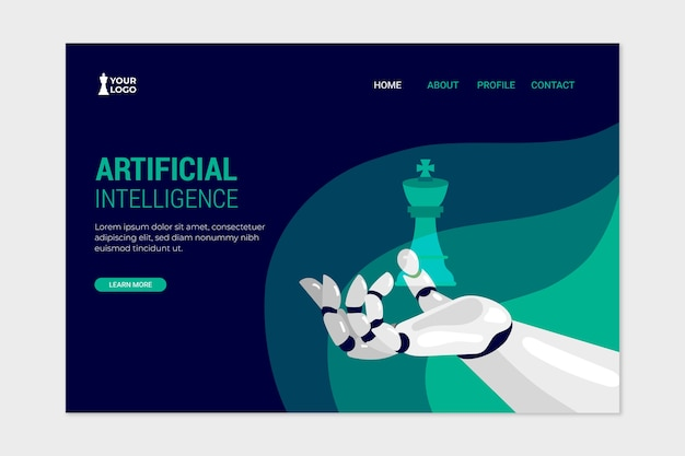 Page de destination du modèle d'intelligence artificielle