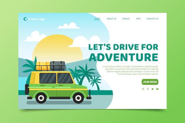Page de destination du modèle de voyage
