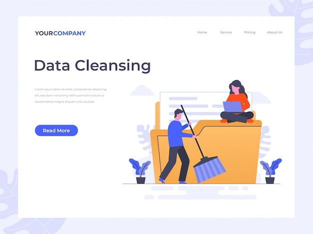 Page de destination du nettoyage des données
