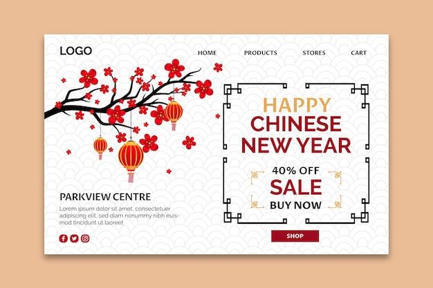 Page de destination du nouvel an chinois