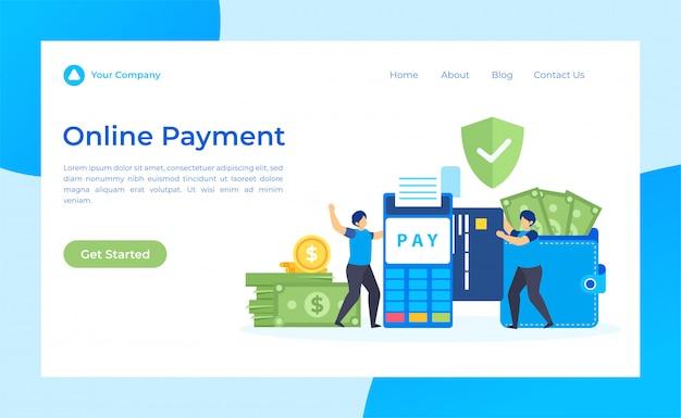 Page de destination du paiement en ligne