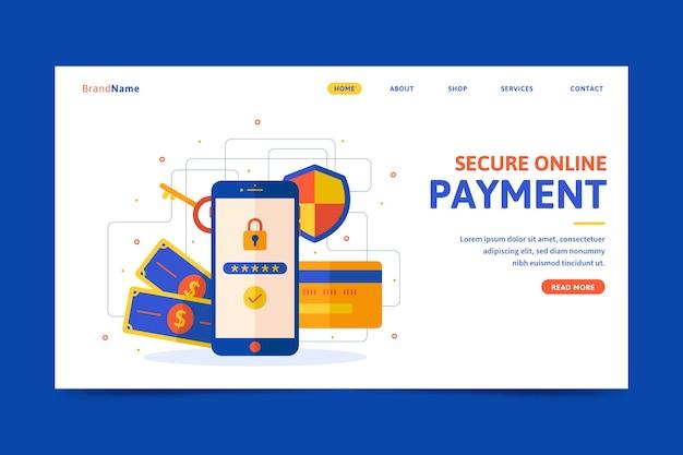Page de destination du paiement sécurisé