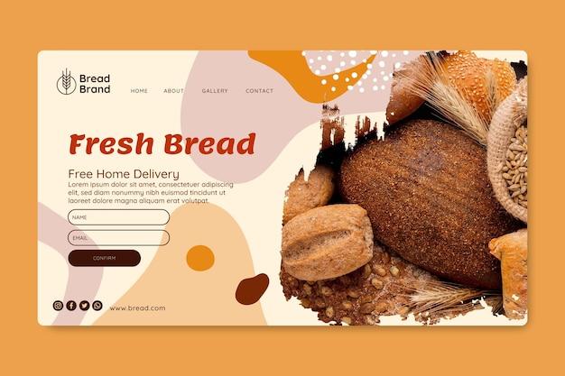 Page de destination du pain frais