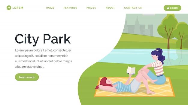 Page de destination du parc de la ville