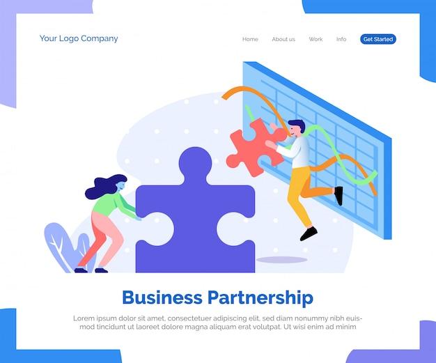 Page de destination du partenariat d'affaires