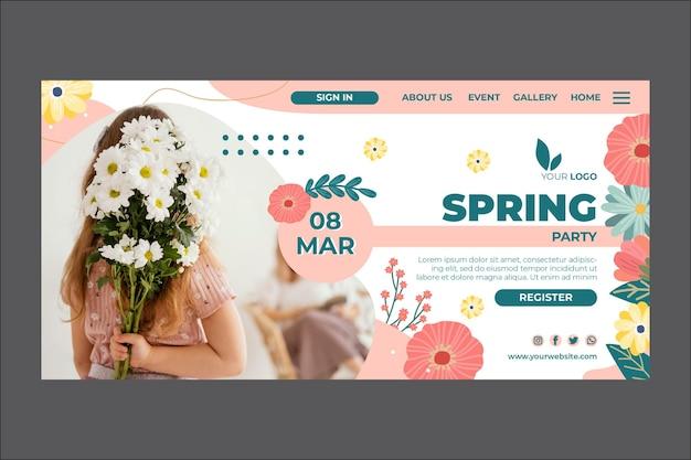 Page de destination du printemps
