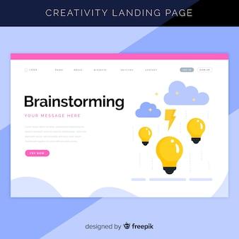 Page de destination du processus de création