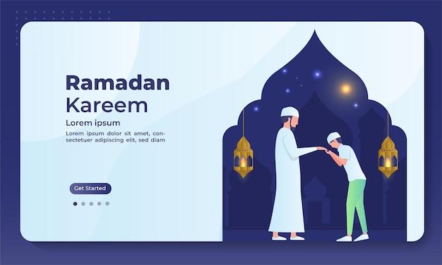 Page de destination du ramadan kareem
