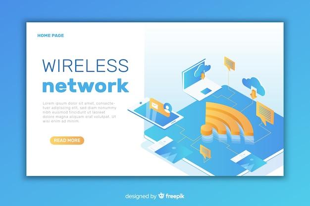 Page de destination du réseau sans fil