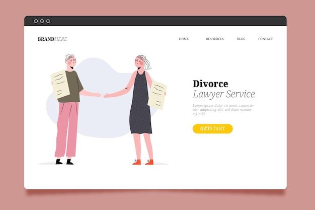 Page De Destination Du Service Des Avocats En Divorce Vecteur gratuit