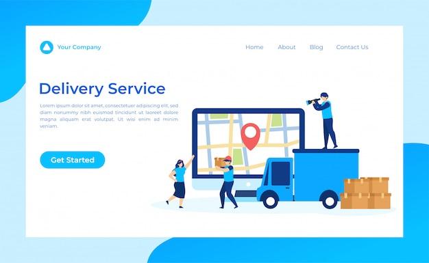 Page de destination du service de livraison