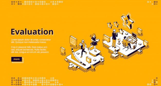 Page de destination du service de notation et d'évaluation