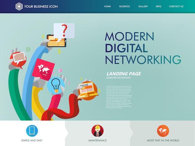 Page de destination du site de réseautage numérique
