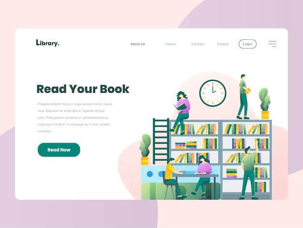 Page de destination du site web de la bibliothèque