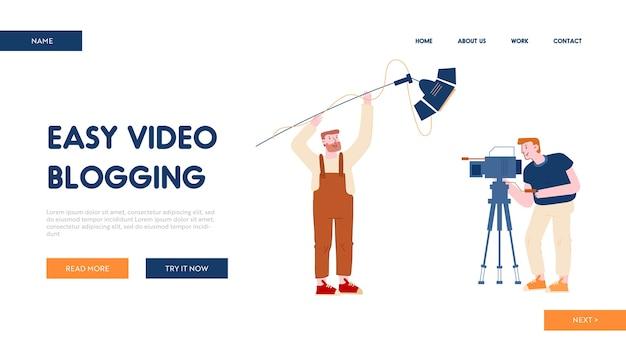 Page de destination du site web de blogs vidéo