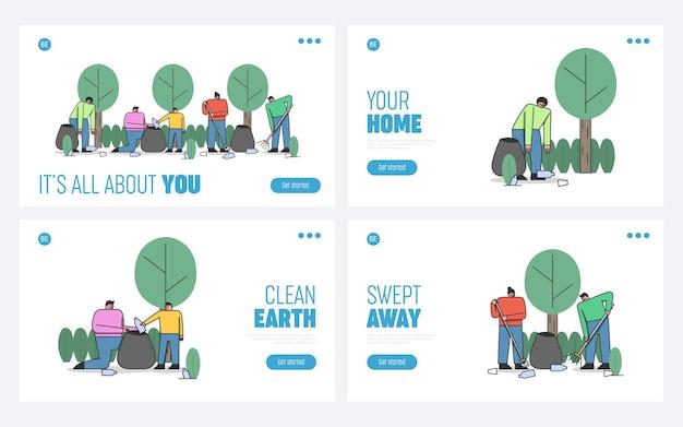 Page de destination du site web concept de protection de l'environnement
