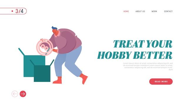 Page de destination du site web de couture hobby ou profession.