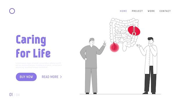 Page de destination du site web sur les maladies gastro-intestinales