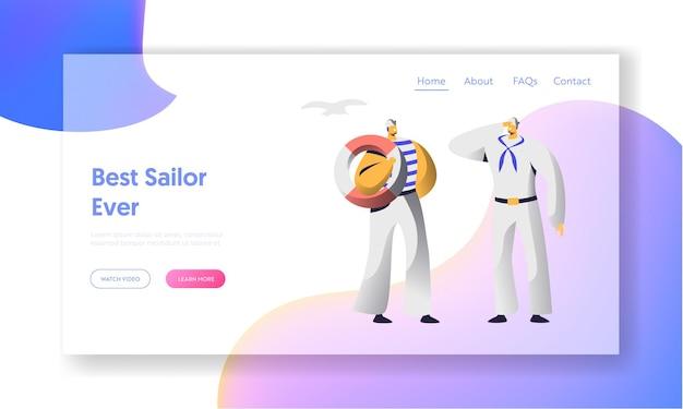 Page de destination du site web sailor characters.