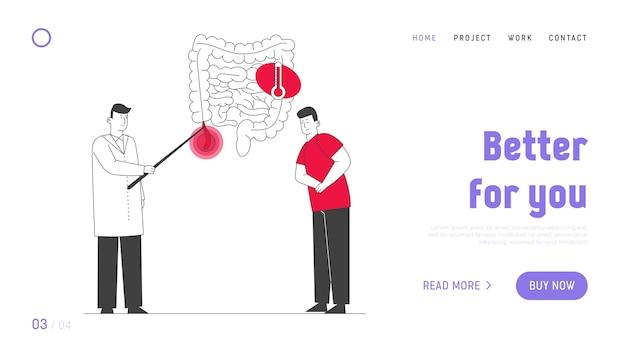 Page de destination du site web sur la santé et la santé