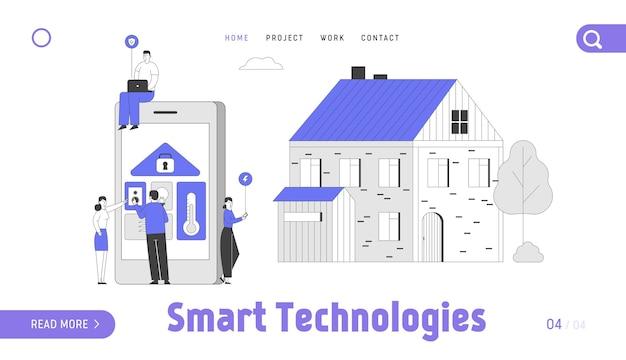 Page de destination du site web smart technologies.