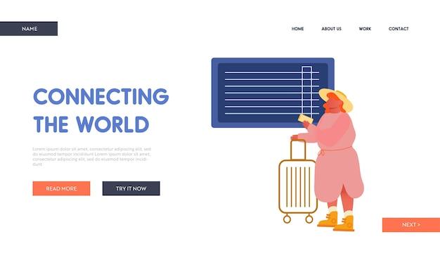 Page de destination du site web de voyage de vacances d'été.