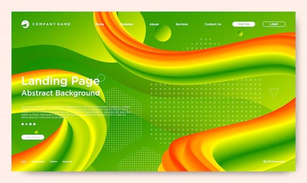 Page de destination du site web