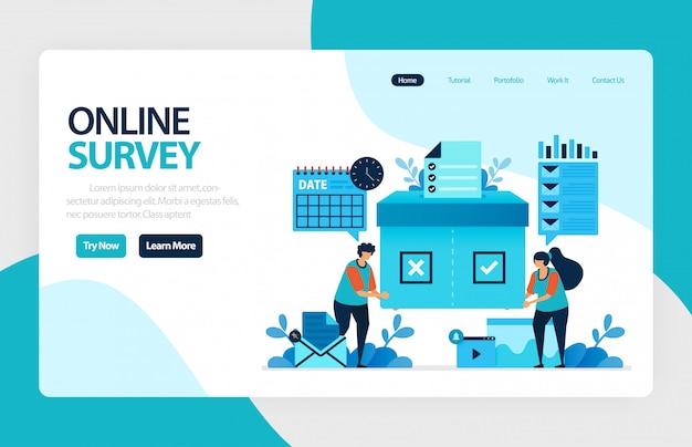Page de destination du sondage en ligne