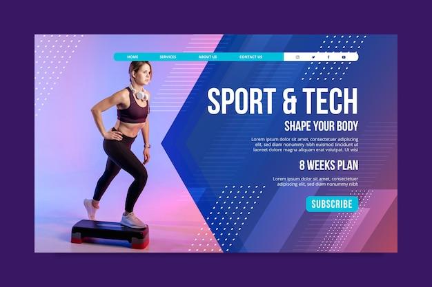 Page de destination du sport et de la technologie