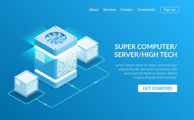 Page de destination du super ordinateur