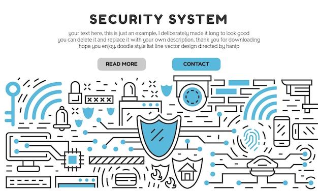 Page de destination du système de sécurité