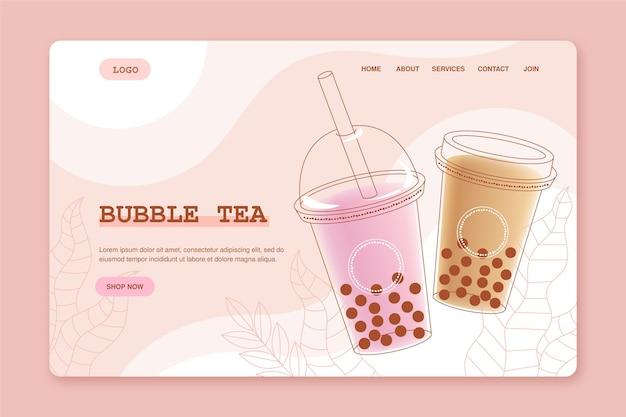 Page de destination du thé aux bulles