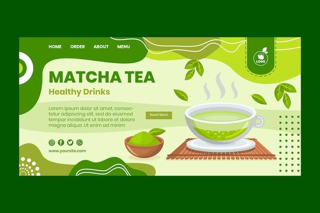 Page de destination du thé matcha