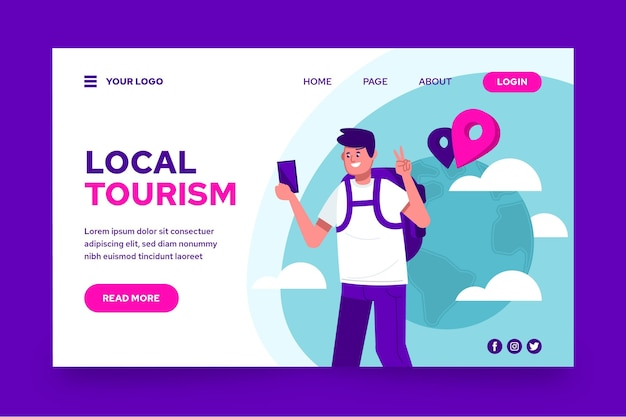 Page de destination du tourisme local