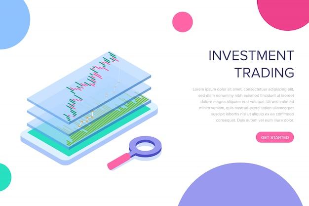Page de destination du trading d'investissement