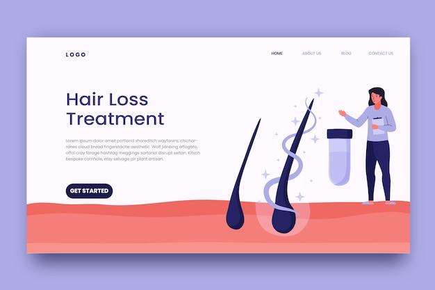 Page de destination du traitement de la perte de cheveux à plat