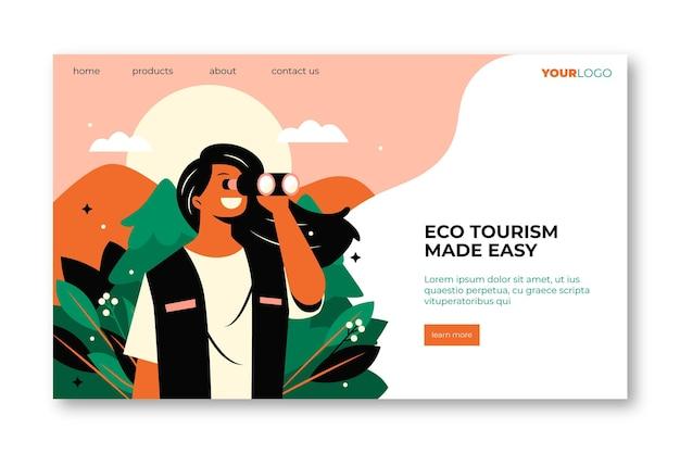 Page de destination de l'écotourisme