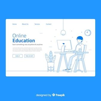 Page de destination de l'éducation en ligne