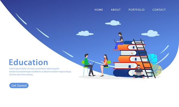 Page de destination de l'éducation