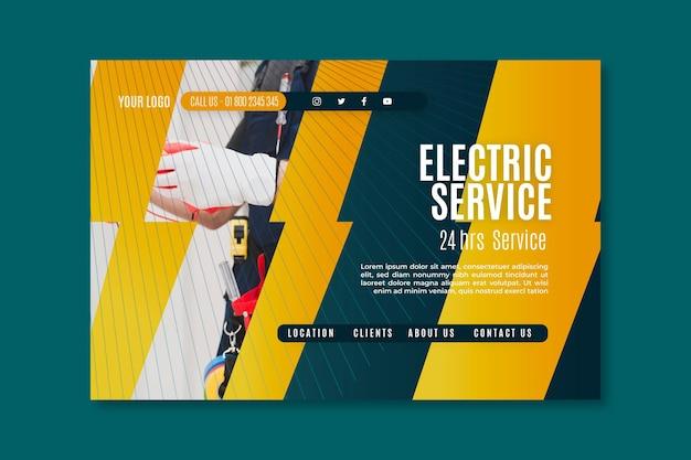 Page de destination électricien